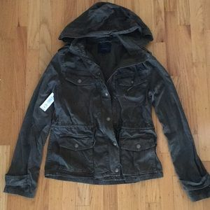 NWT Talula Aritzia Troop Jacket Dark Olive XS